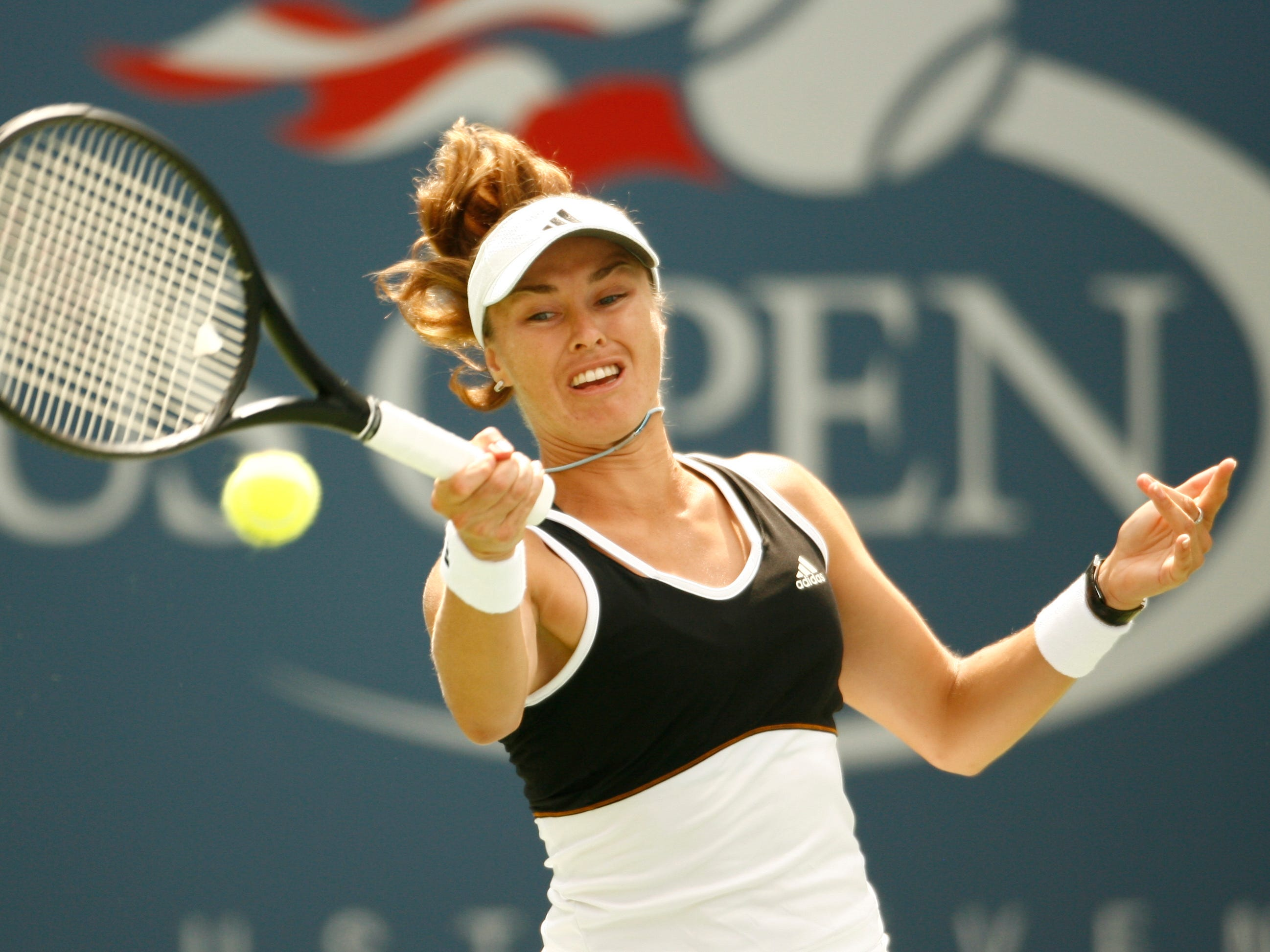 Martina Hingis (6-7). Another of those fierce, occasionally controversial, rivals. Hingis was inducted into the Hall of Fame in 2013. Their series was back and forth, but Serena won their only major final ... the 1999 U.S. Open, her first Grand Slam title.