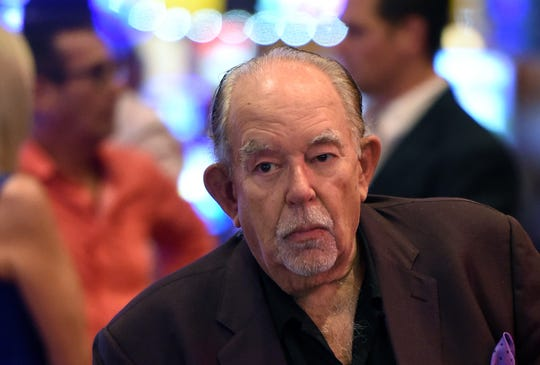 Robin Leach at a memorial for Jerry Lewis on Sept. 4, 2017, in Las Vegas.