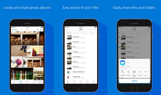 Microsoft's OneDrive lets you back-up, access and share your files, which is recommended for mobile phone users that want to trade in their old device.