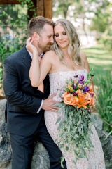 San Francisco Bay Area resident Mary Thornally, pictured with her husband Spencer Thornally, bought her wedding dress for about $180 online.