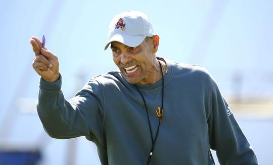Arizona State coach Herm Edwards