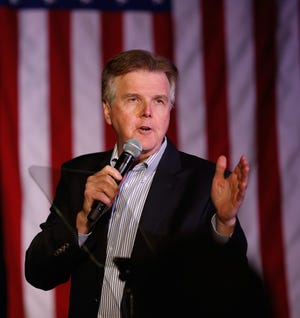 Texas Lt. Gov. Dan Patrick speaks at a watch party for Republican presidential candidate Sen. Ted Cruz , R-Texas, on March 15, 2016 in Houston.