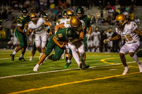 Reynolds wins its second game of the season, defeating Shelby 17-14 on Aug. 24, 2018.
