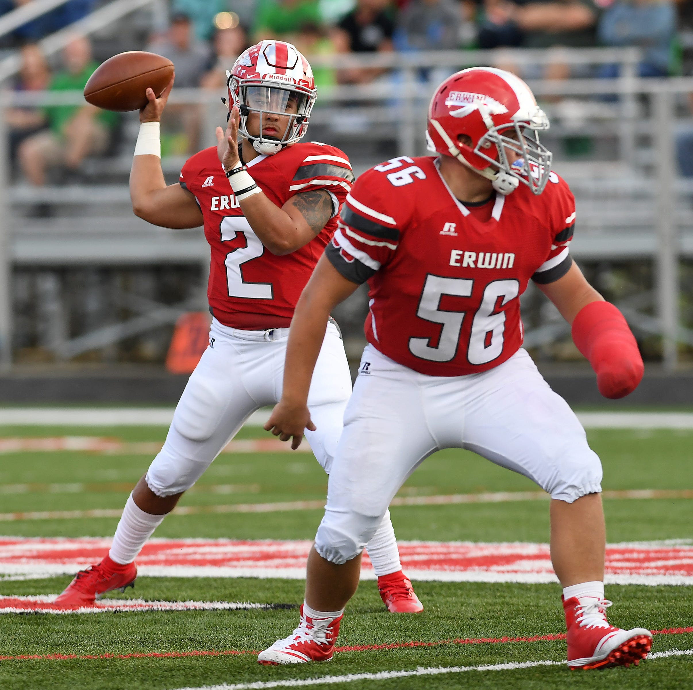Erwin quarterback receives first college offer