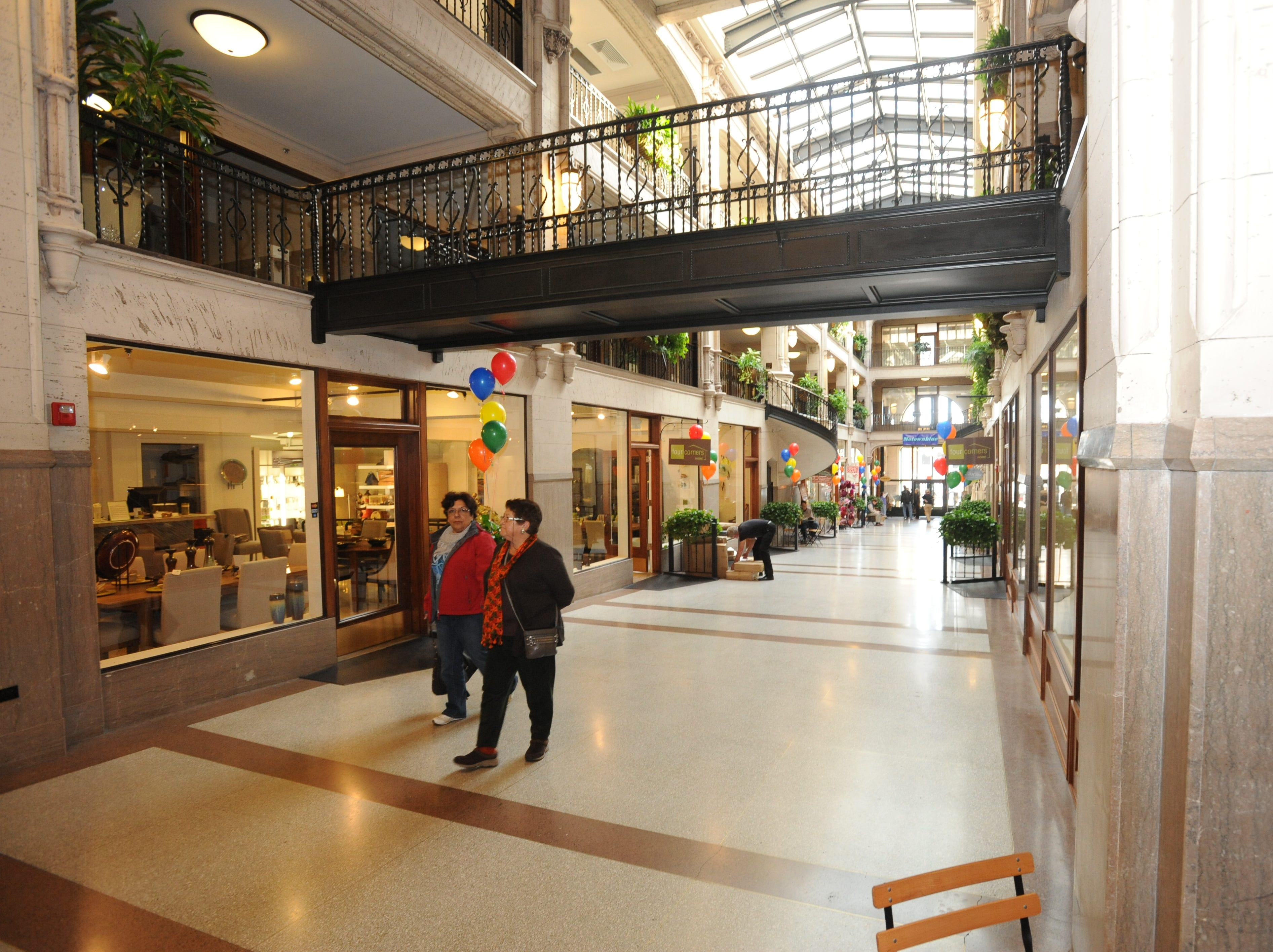 The Grove Arcade is home to not only shops but several apartments on upper floors.