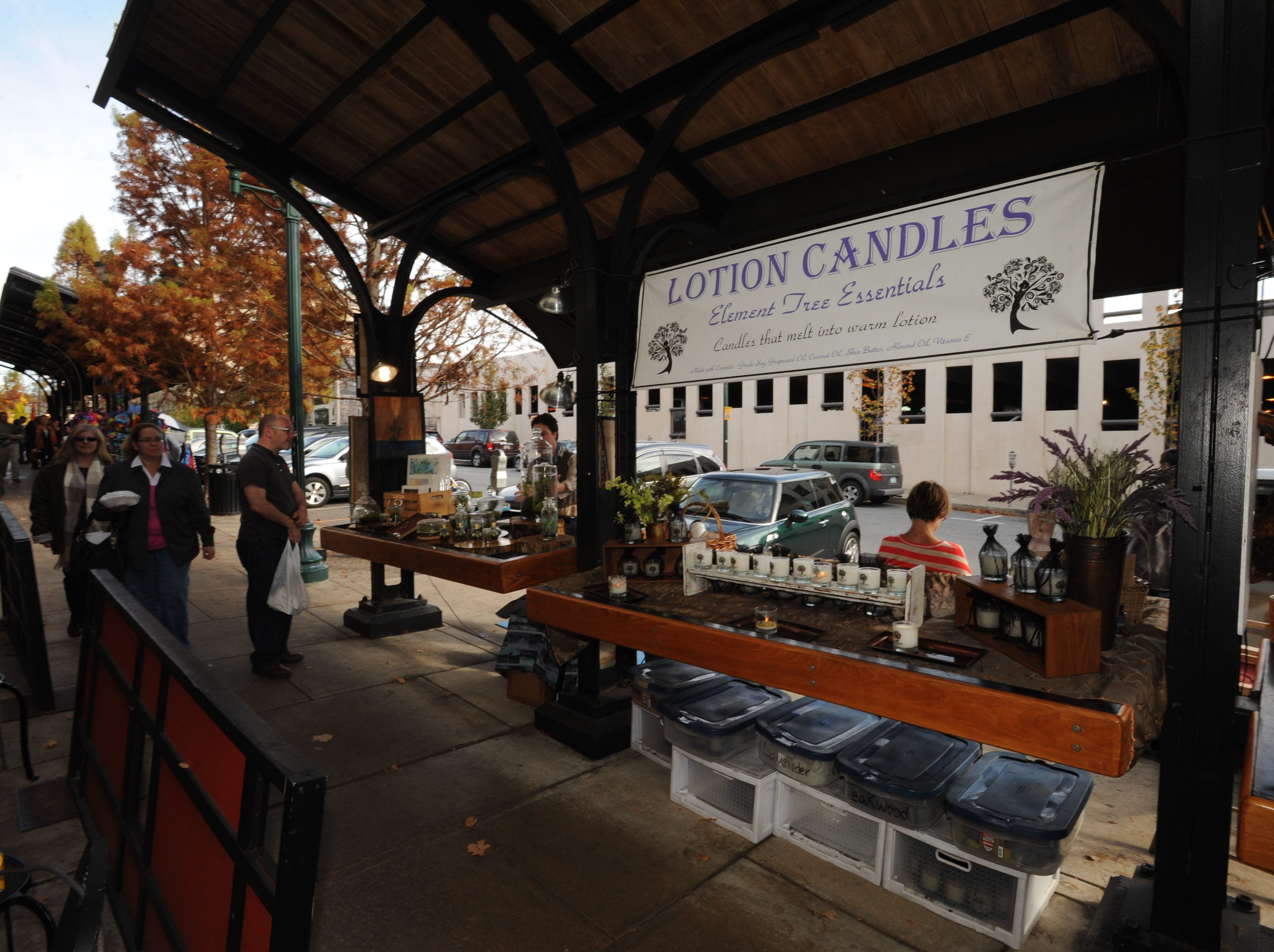On the south end of the Grove Arcade is the Portico Market, with several stalls.