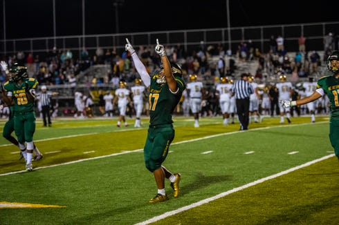 Reynolds wins its second game of the season, against Shelby, 17-14 on Aug. 24, 2018.