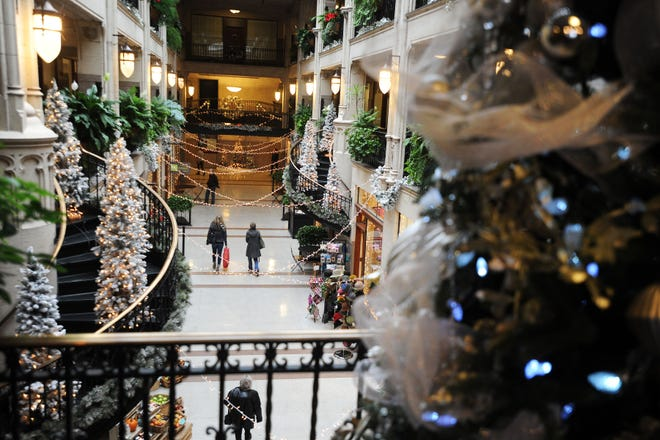 The Grove Arcade's Winter Wonderland plays host to Santa Claus on Saturdays in December.