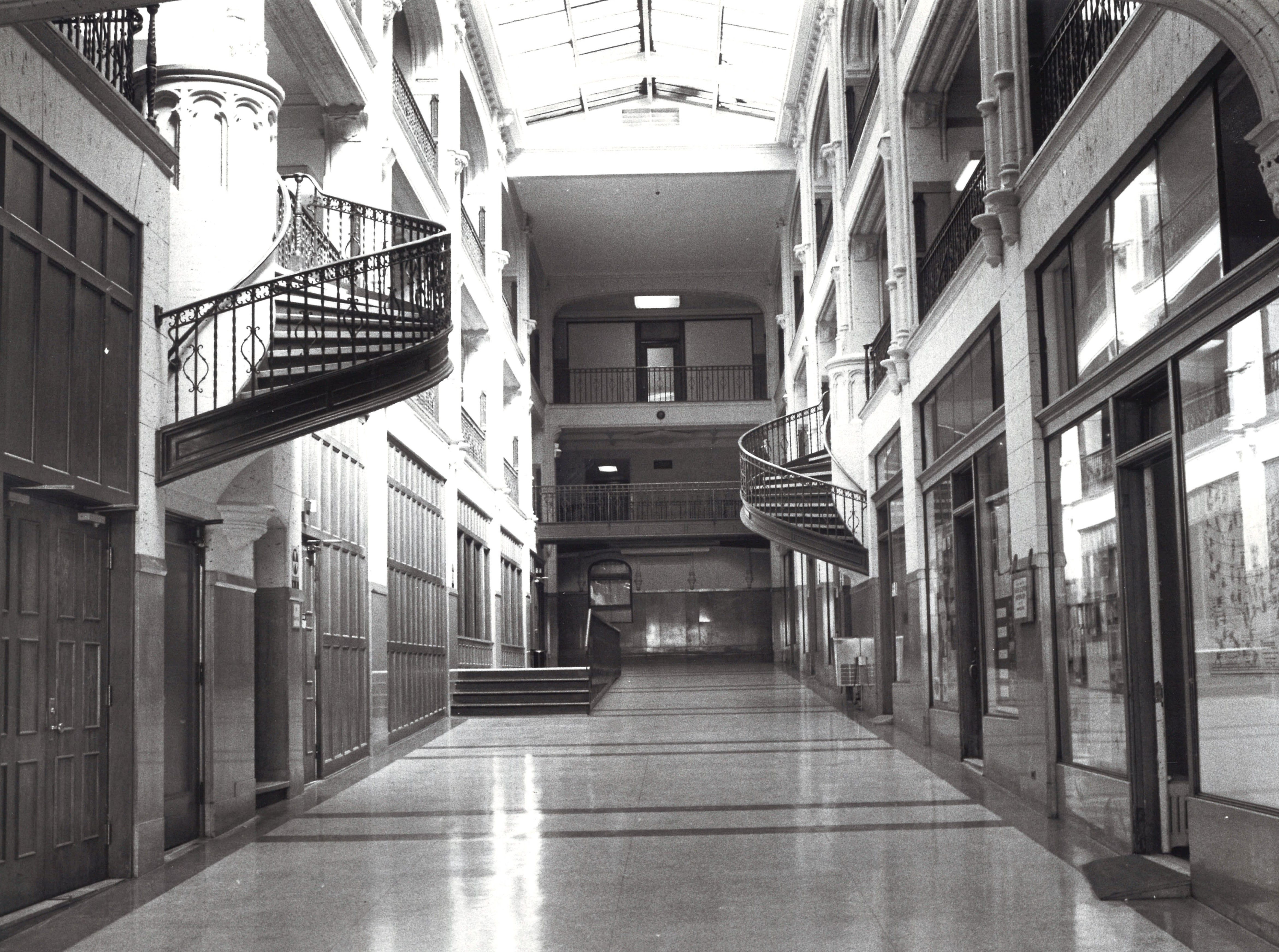 Interior of the Federal Building in 1985. At the time talk of renovating the building had begun.