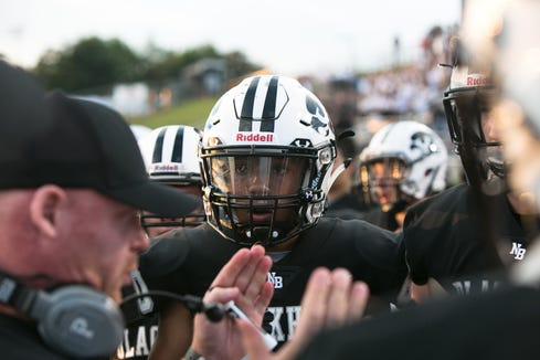 North Buncombe hosts Madison on Aug. 24, 2018. The Black Hawks came away with their first shutout in a decade, winning 46-0.