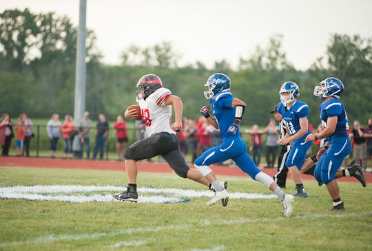 Buckeye Central's Jacob Maxhimer could've battled for top rushing spot in the league had he played all 10 games.