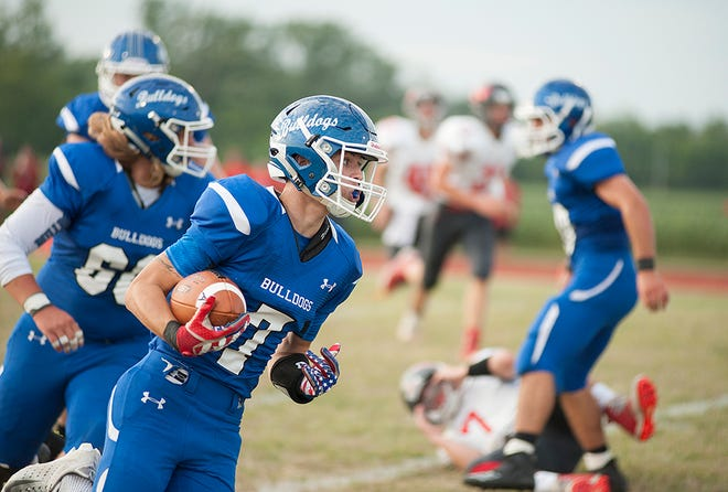 Kaden Ronk will take over quarterback duties this year and be a threat with his arm and legs.