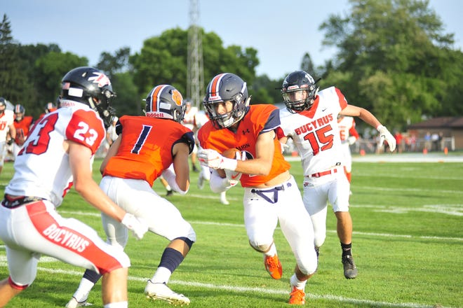 Galion's Isaiah Alsip makes a big run during Friday's home game against Bucyrus.
