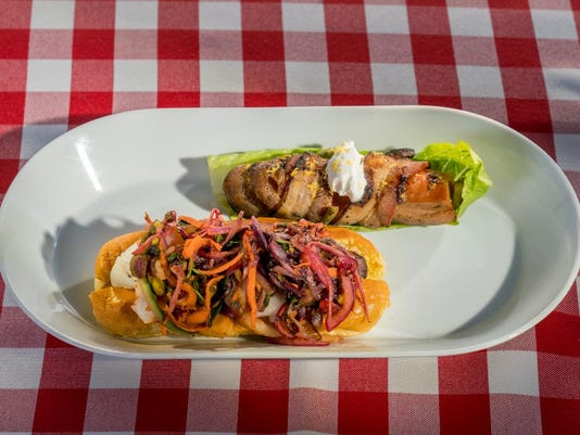 Corpus christi chef featured on food network ultimate summer cook off vietnamese kraut dog and stuffed hot dog with asian fusion pico de gallo on ultimate summer cook off photo contributedanders krusberg food network forumfinder Image collections