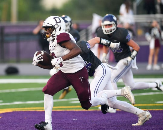 Dowling running back Jayson Murray has rushed for 493 yards in three games, putting him on pace for nearly 1,500 for the 2018 regular season.