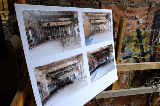 Palazuelo touted the progress they have made in the last year having ripped up the floor, cleared asbestos and saved historical contents from the former auto plant administration building at 1580 East Grand Blvd.