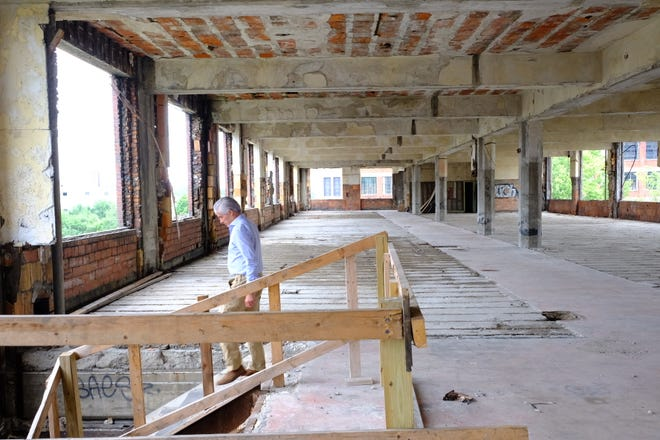 """""""We've made progress slow and steady,"""" said developer Fernando Palazuelo. """"Floors are completely cleared up and within the next few weeks we will begin working on the facade."""""""