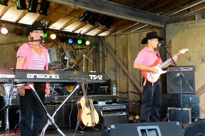 The Little Rock Band from Mechanicstown performs at the Sandusky County Fair on Saturday.