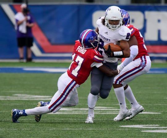 Fremont Ross running back Deryante Hardin rushed for one touchdown Friday.