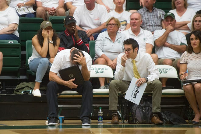 The CSU volleyball team suffered its first Mountain West loss, Saturday at Fresno State.