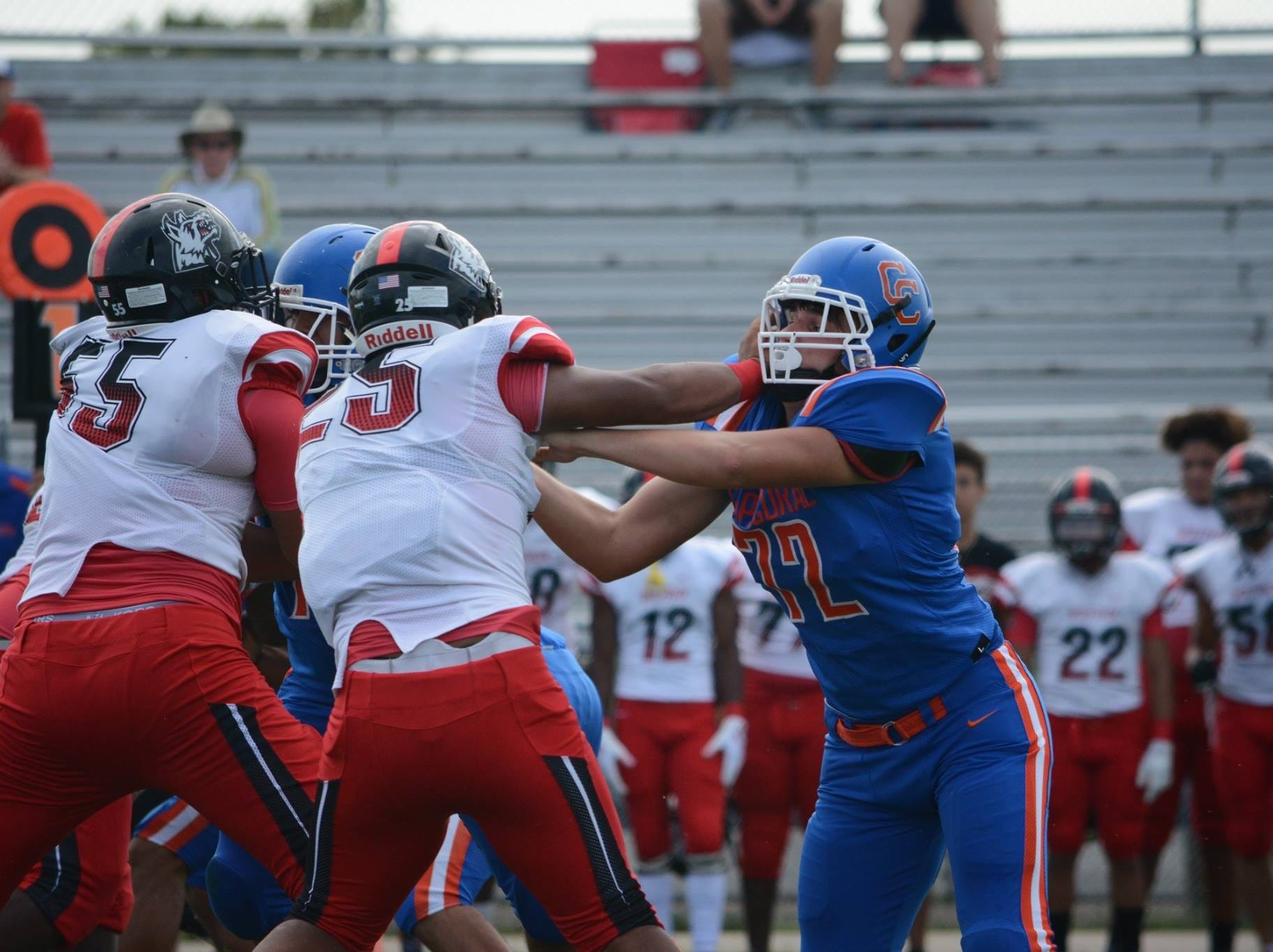 Cape Coral beat South Fort Myers 26-25 in a game delayed until Saturday morning due to inclement weather.