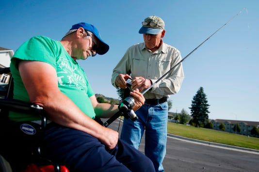 Frank Ewalt Larry Rennich Exchange One Handed Fishing Reel