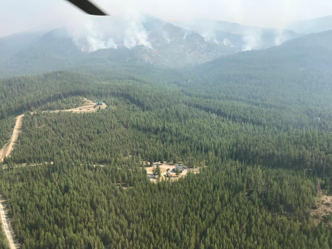 The lightning-caused Gold Hill Fire in the Kootenai National Forest had burned about 5 square miles.