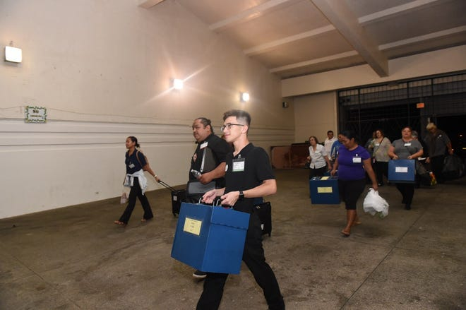 Ballot boxes arrive at University of Guam Field House