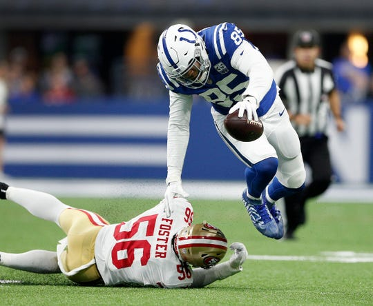 Look for tight ends, including new addition Eric Ebron, to be be frequent Luck targets this season.