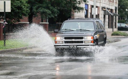 Heavy Rain Falls Across Indianapolis