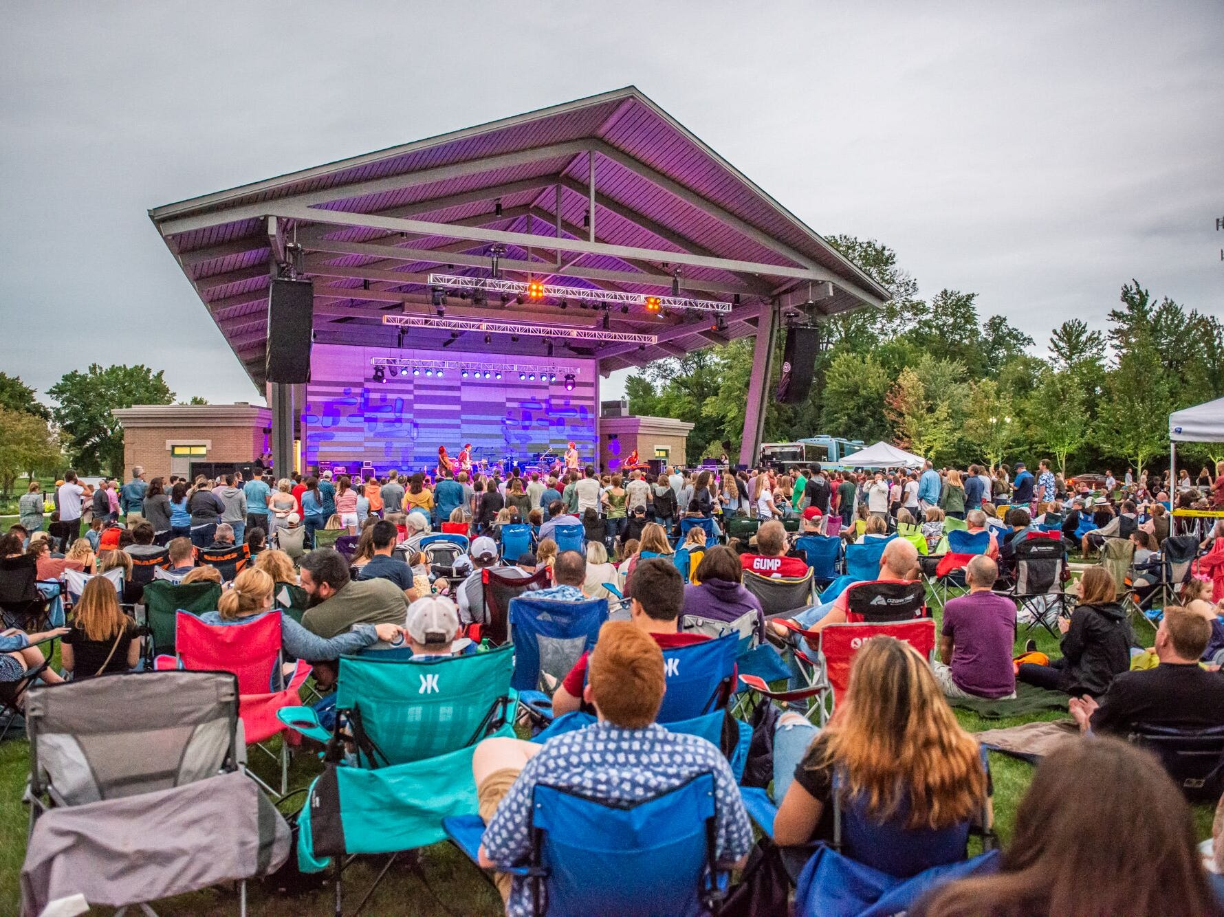Houndmouth and Mt. Joy entertained fans at the Nickel Plate Amphitheater in Fishers, Ind., on Friday, Aug. 24, 2018.