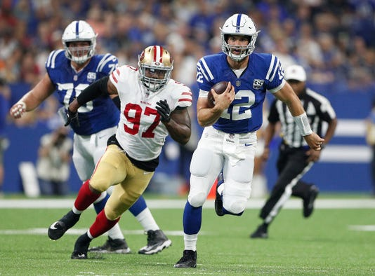 Indianapolis Colts Play The San Francisco 49ers