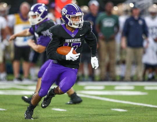 FILE – Bryce Kirtz was all over the field in Brownsburg's win over Franklin Central on Friday.