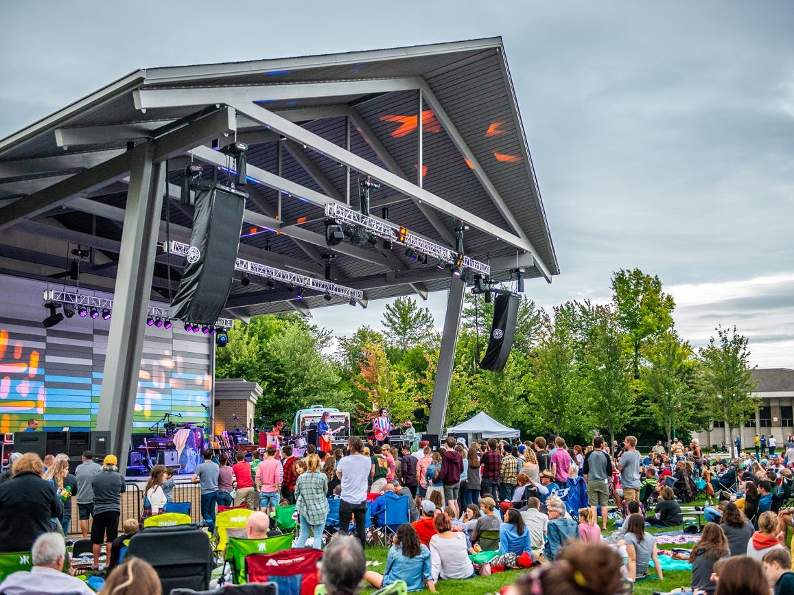 The renovated Nickel Plate District Amphitheater in Fishers hosted Houndmouth, Mt. Joy and Liz Cooper & the Stampede Friday.