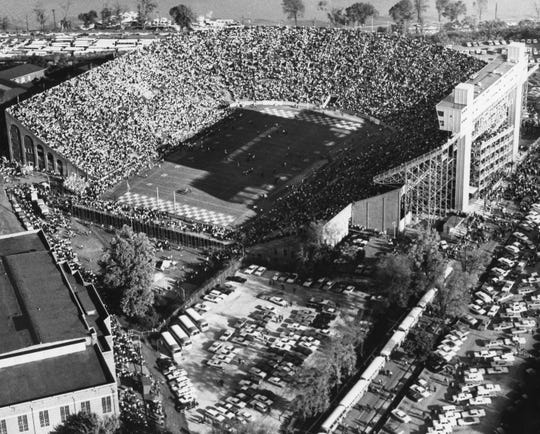 University of Tennessee football fans pack into Neyland Stadium for a game against Alabama on Oct. 17, 1964.