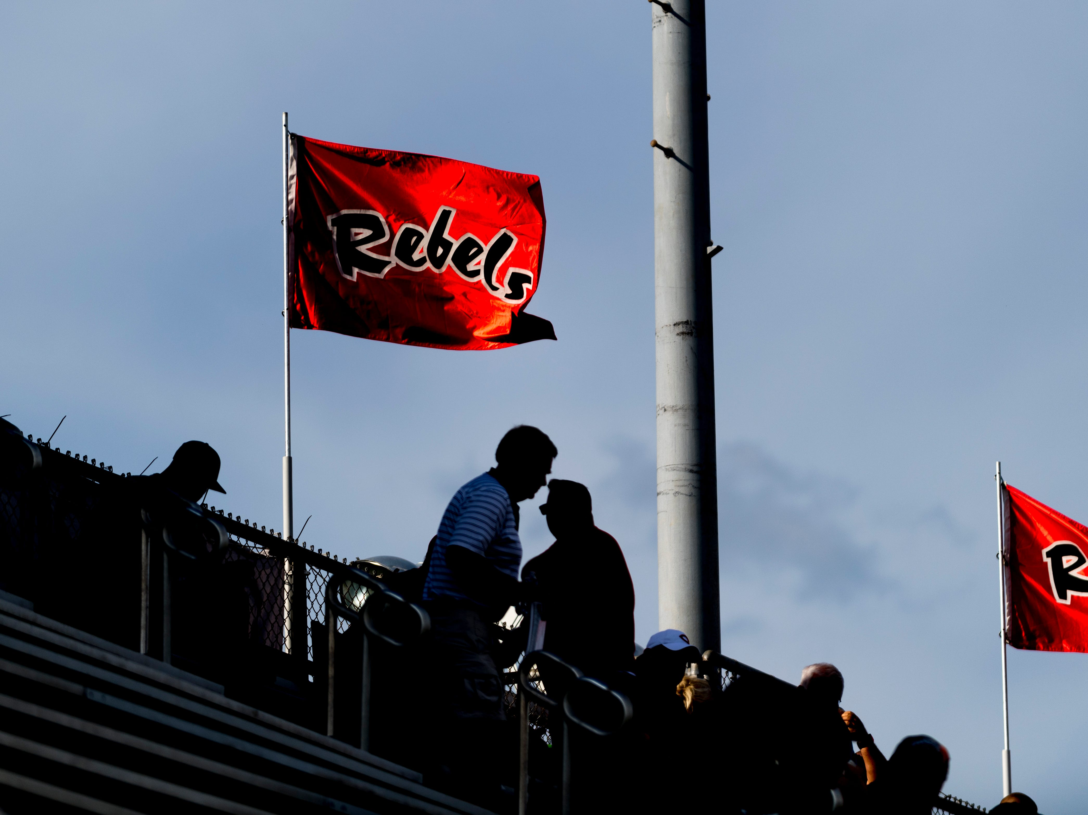 Fans begin arriving during a football game between Maryville and Oakland at Maryville High School in Maryville, Tennessee on Friday, August 24, 2018.