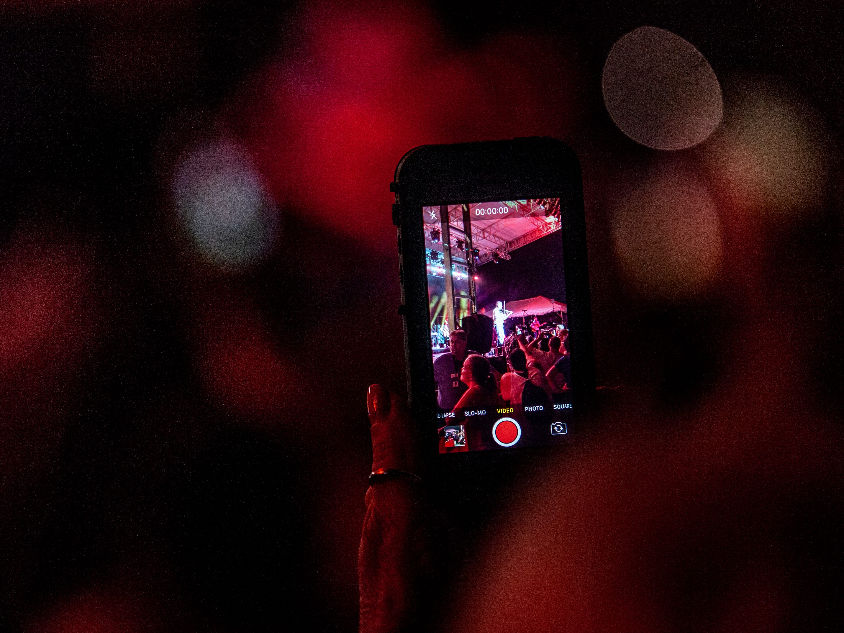 Fans of Josh Turner brought out their phones to record the moment at the Kentucky State Fair. August 24, 2018