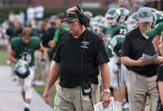 Coach Bob Beatty and Trinity are looking for answers after an 0-3 start.