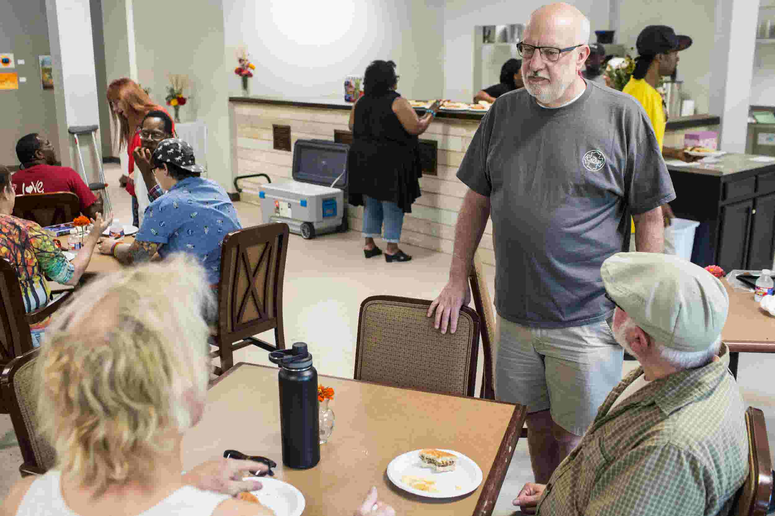 Mac Edwards and the reopened Caritas Village