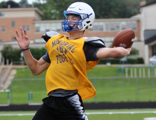 Catholic Memorial's Luke Fox leads the area in passing through two weeks.