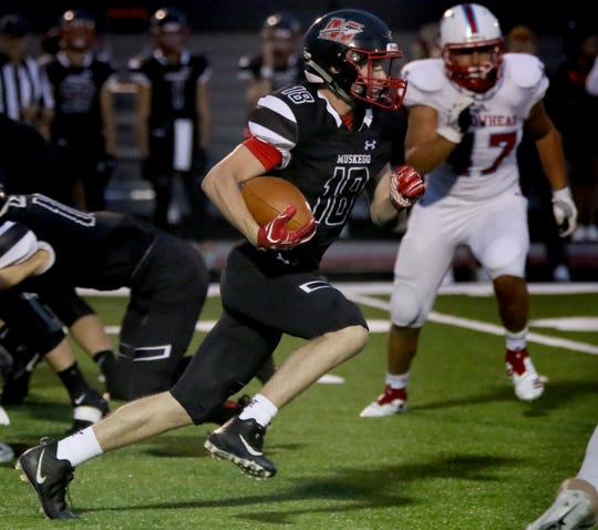 Muskego running back Alex Current is part of a joint running attack that faces Brookfield East this Friday.