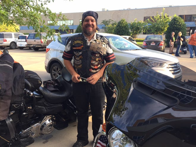Jorge Morena led a group of five riders from Columbia to Oklahoma City, where they spent the night Aug. 24. The 9,000-mile trip took about 20 days. They will continue on to Milwaukee.