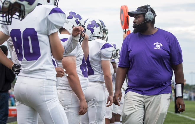 FILE -- Muncie Central football coach Darrick Lee isn't surprised Shoka Griffin enjoyed success on a national stage. Lee also believes it could mean a lot for Griffin's fellow Bearcats.