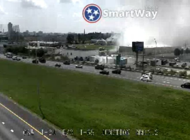 Crews battle large chemical fire at Advanced Plating in East Nashville on Aug. 25, 2018.