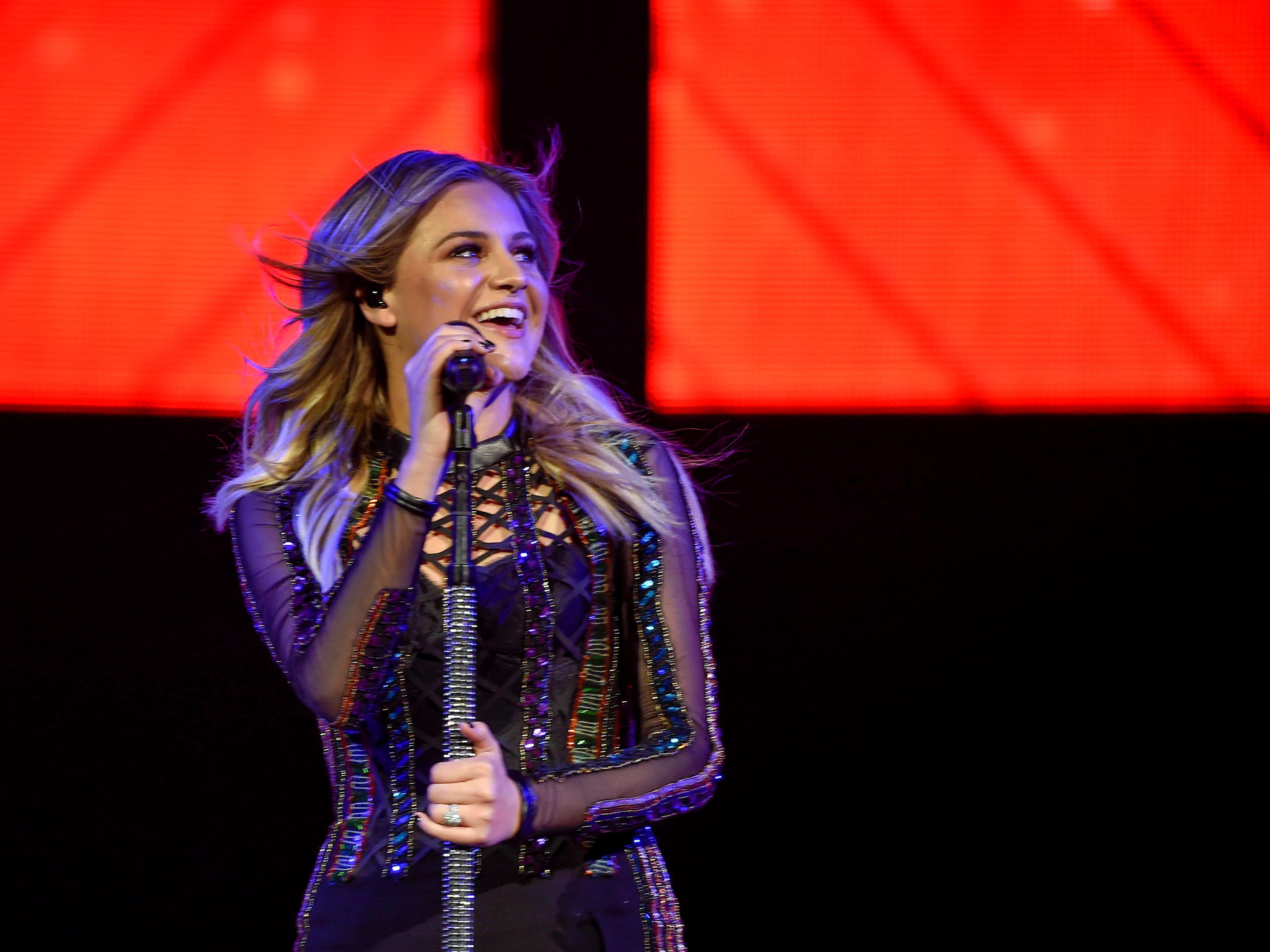 Kelsea Ballerini opens for Keith Urban at the Bridgestone Arena in Nashville, Tenn., Friday, Aug. 24, 2018.