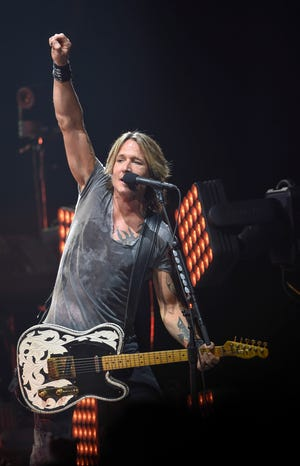 """Keith Urban will headline """"Jack Daniel's Music City Midnight: New Year's Eve in Nashville"""" for the third year in a row."""
