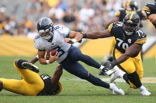Pittsburgh Steelers vs Titans  Marcus Mariota part of lifeless offense 4135b2f04