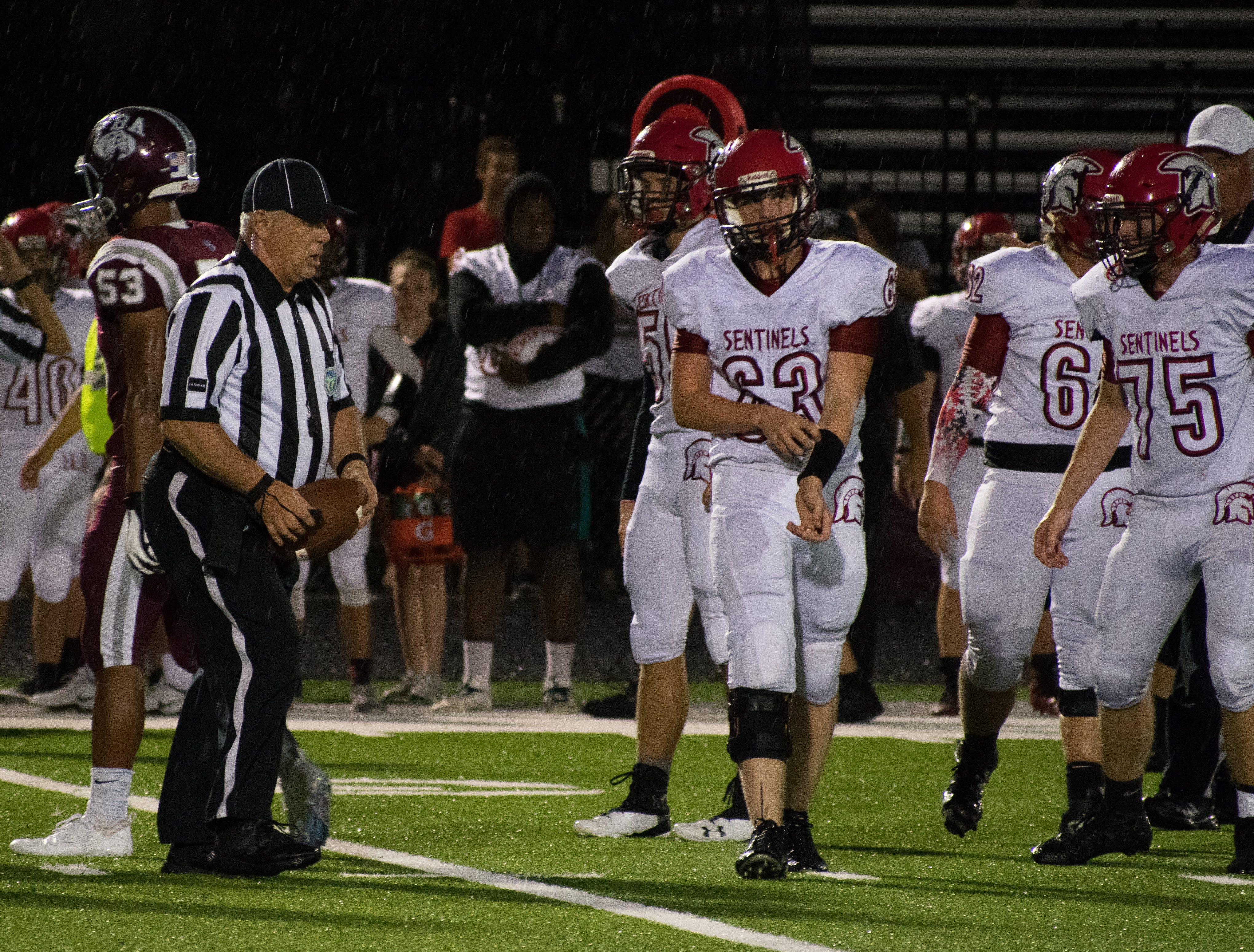 The First Baptist Academy football team defeated Evangelical Christian, 54-14, on Aug. 24, 2018 after a two-hour lightning delay.