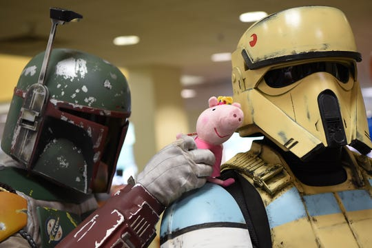 Star Wars cosplayers at the Comic-Con Comes to Bergenfield Public Library in Bergenfield on Saturday August 25, 2018.