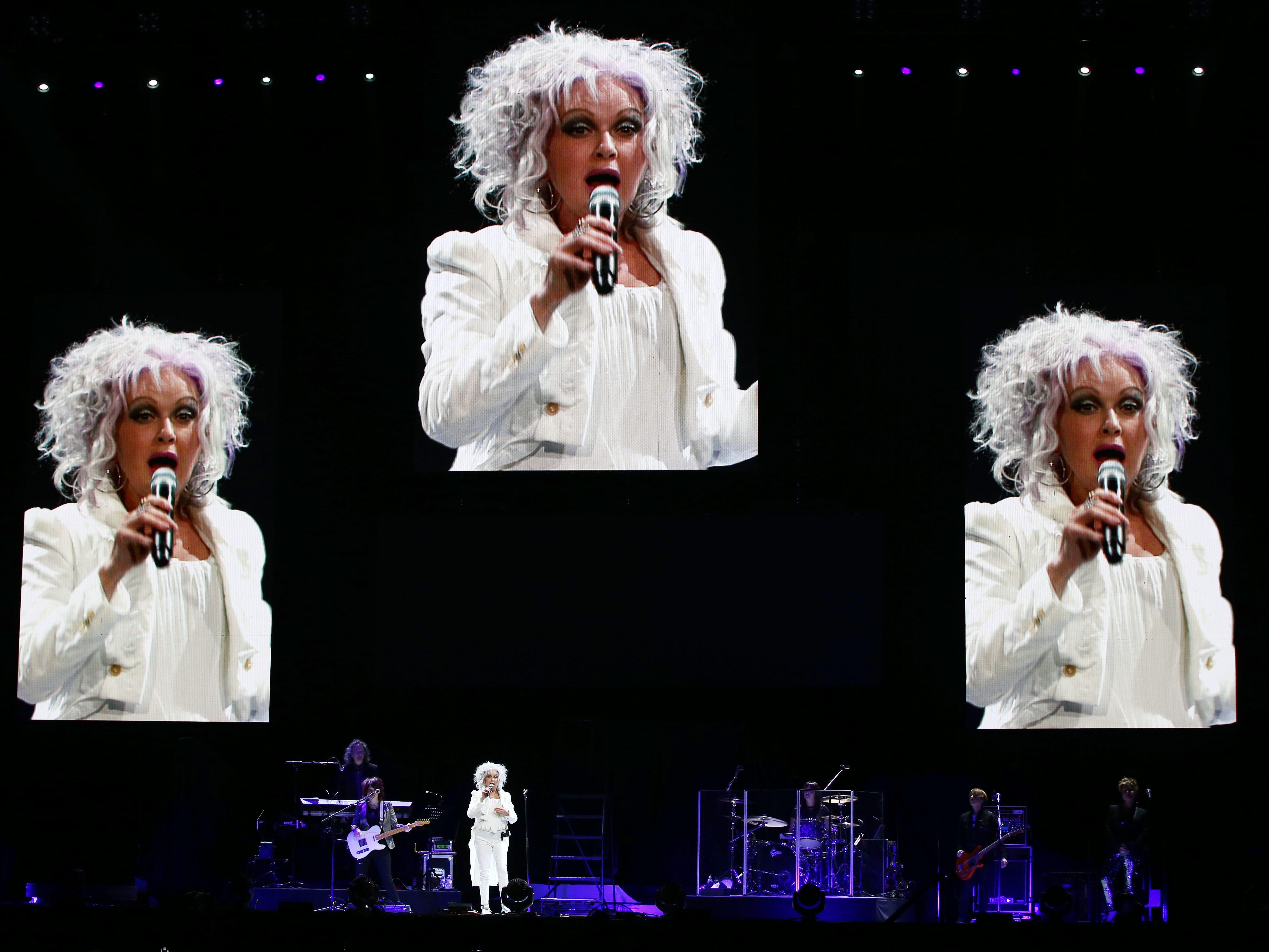 Cyndi Lauper performs on Aug. 24, 2018, at Talking Stick Resort Arena in Phoenix, Ariz.